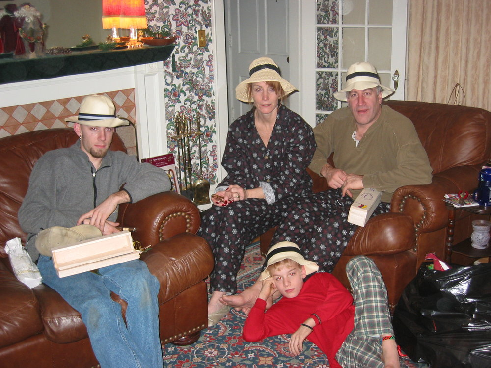 The year of the Panama hats … the hats didn't travel very well!