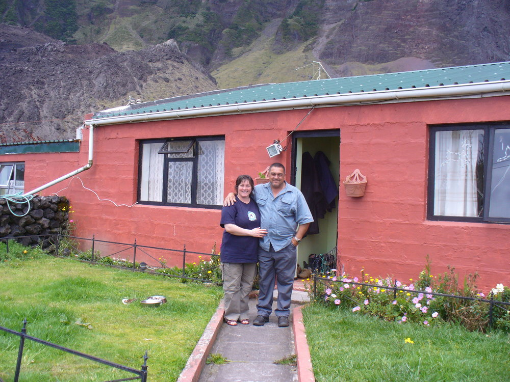 We had an early Christmas celebration with Andy & Lorraine at Tristan da Cunha.