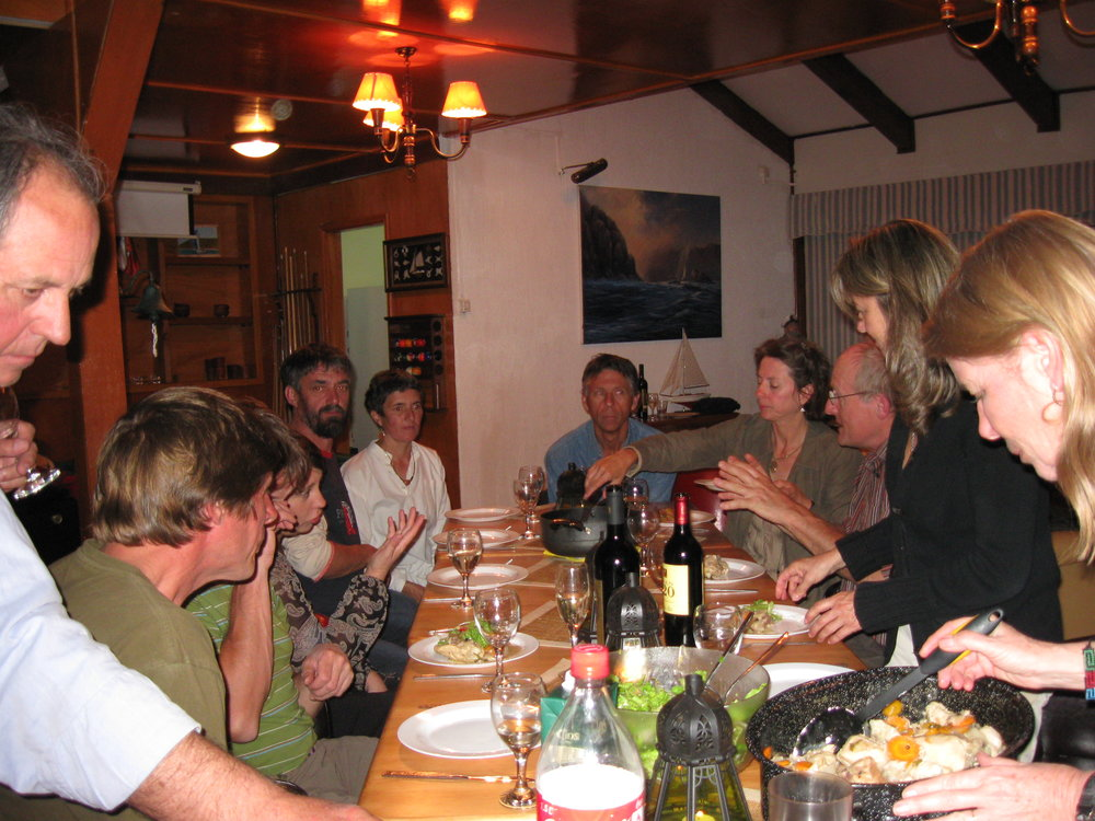 A pot luck celebration in Puerto Montt, Chile - 2008