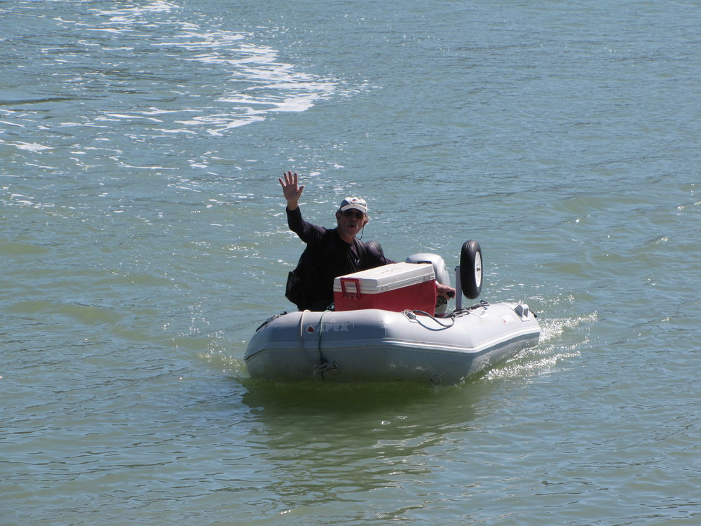 Dinghying to a party