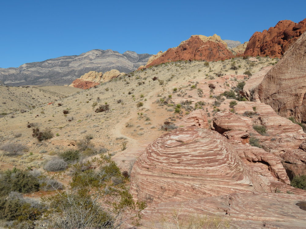 Nooks and crannies… ripples and swirls in the Calico Hills