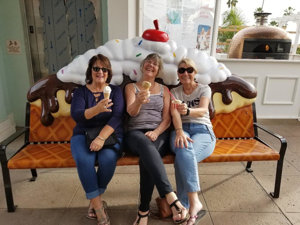 Nothing says friendship like eating ice cream together. Thanks for treating, Diane!