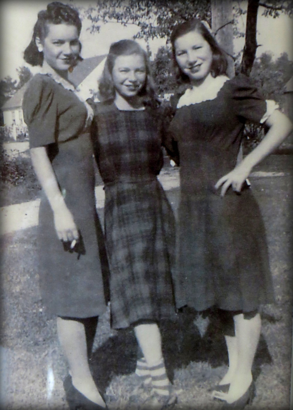 One of my favorite family 'sister' pix. That's Aunt Bette on the left, my mom in the middle and Aunt Jeannette on the right. Check out my Mom's socks!