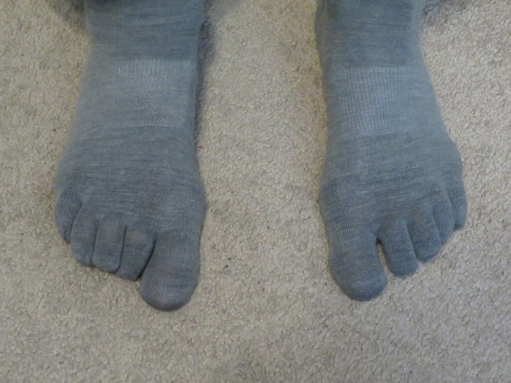 Toe socks look a little weird, but no more blisters.