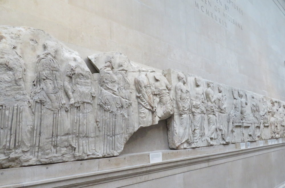 A frieze from the Parthenon Sculptures. The exhibit was fascinating, but nearly overwhelming in its scope.