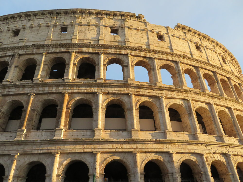 Our first glimpse of the Colosseum. WOW! More to come when we take a tour … the next blog.