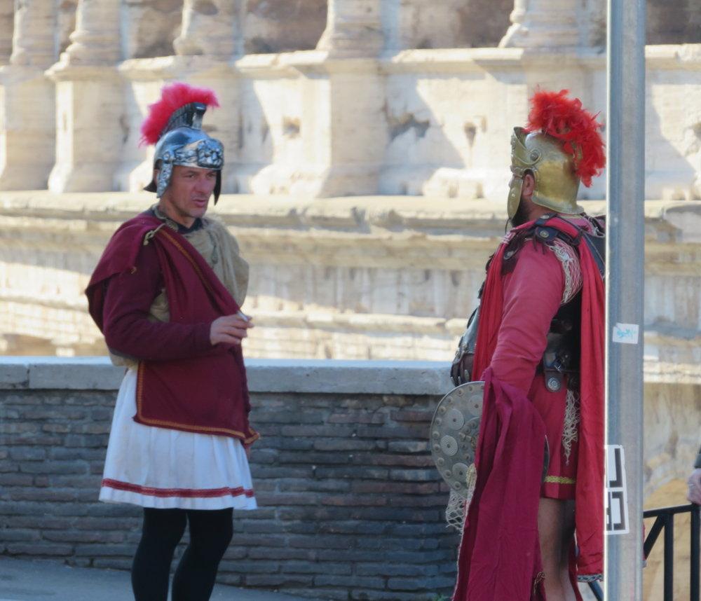 Is that gladiator smoking?