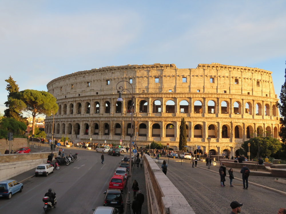 The Colosseum was just up the street from our hotel.