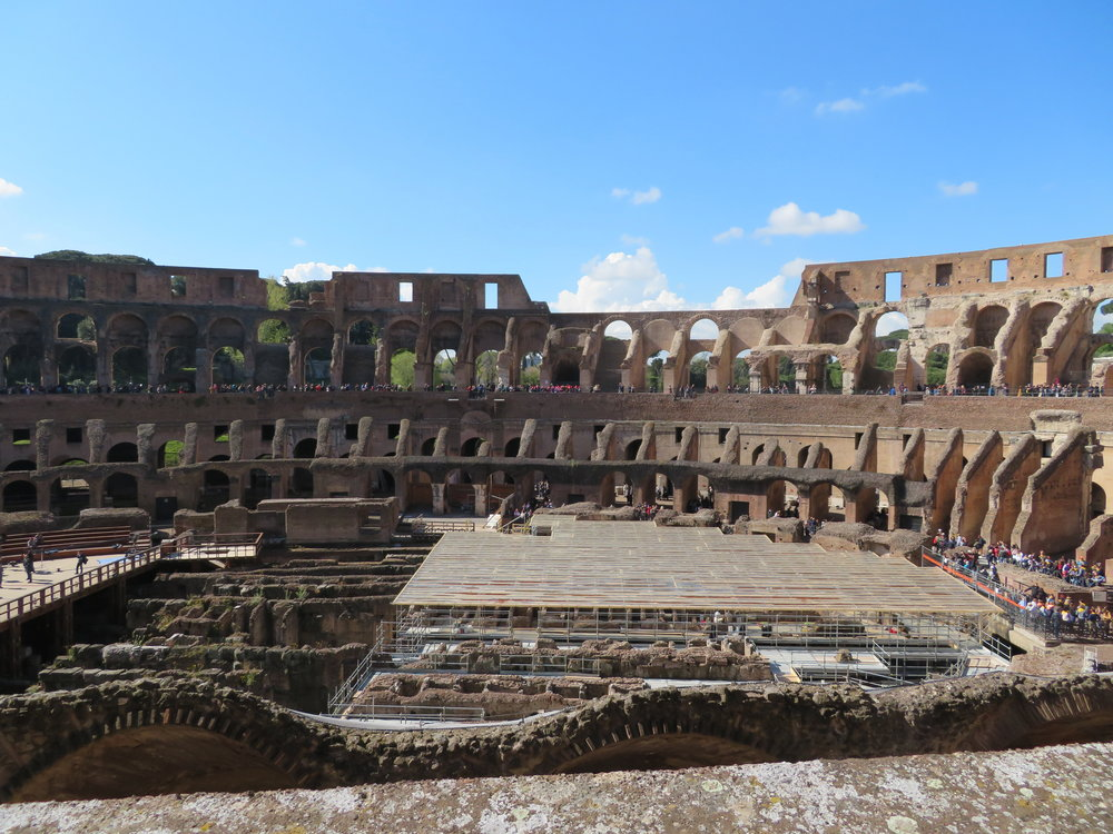 Inside view of the Colosseum