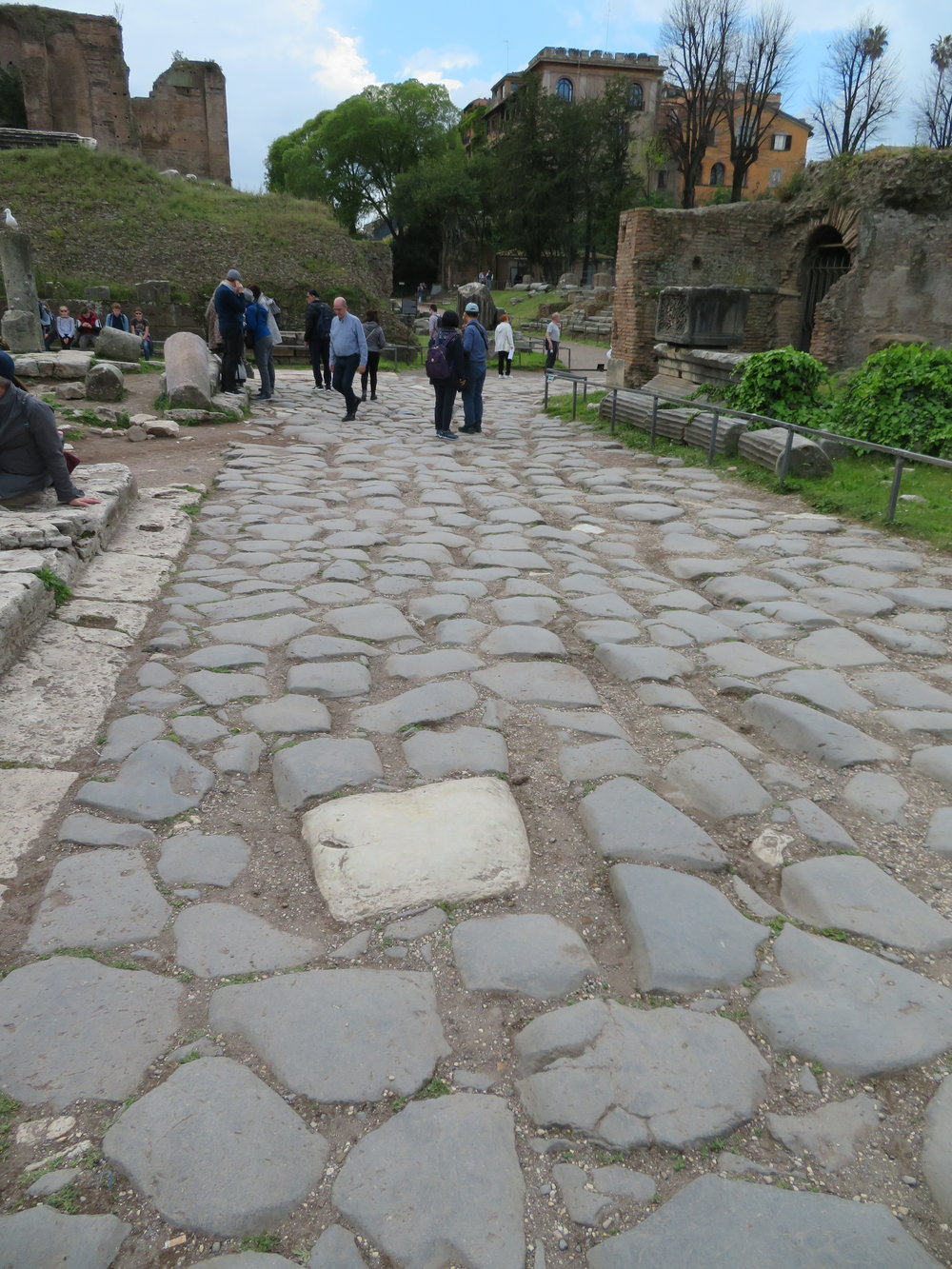 The Sacra Via … an original Roman road trod by millions in the past two thousand years+. I swear you can feel the footsteps of those who have passed before us.
