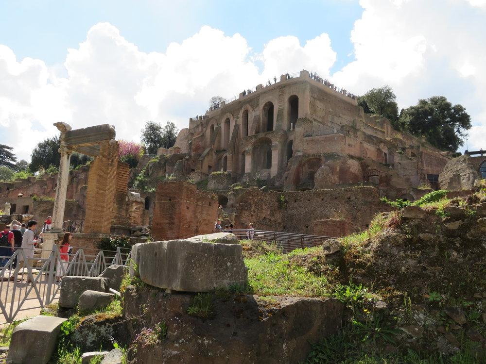 Colosseum_temple to vestal virgins.JPG