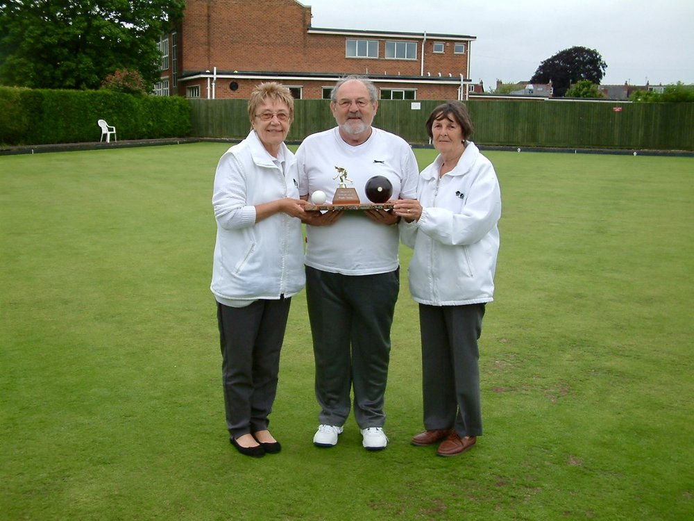 CLUB TRIPLES   Winners - Gordon Avery, Marion Simpson & Hazel Hembling  Runners Up - Peter Elkins, Silvia Webb & Jim Oates