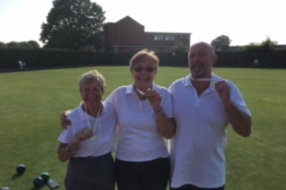 CLUB TRIPLES   Winners - Joy Heath, Hazel Hembling, Martin Askham  Runners Up - Kath Oates, Betty Hankin, Jill Freeman