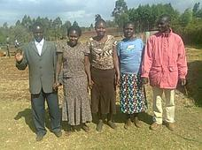 Salvation to Nations Leadership Board with Pastor and Mrs. Kuyuni, Assistant Chair Lady, Secretary, and Treasurer
