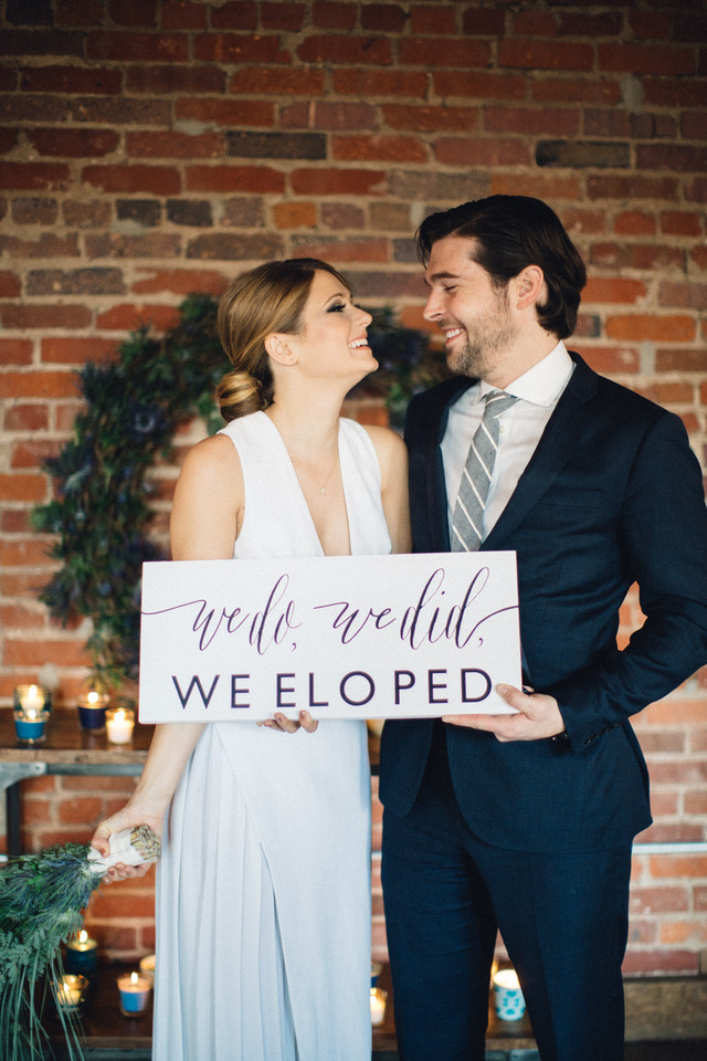we do, we did, we eloped! by Sweet Carolina Collective