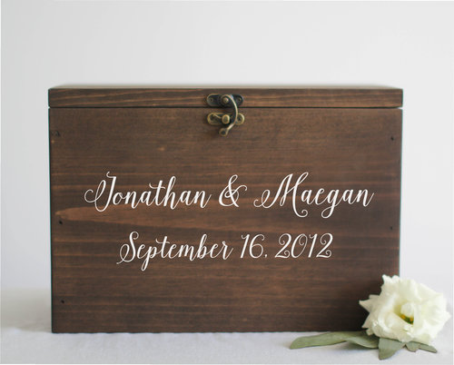 Wedding Cards Box With Slot | First Names and Wedding Date | SS-1 ...