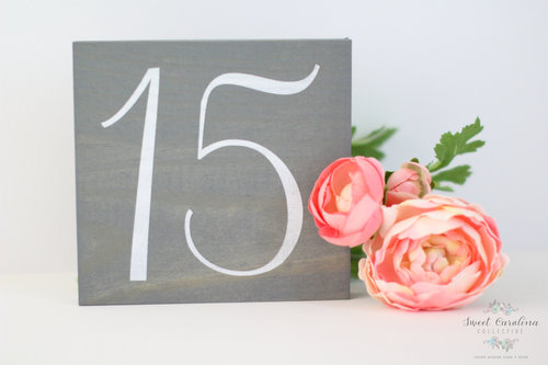 Rustic Wooden Table Number   Wedding Decor   SS-21 — Sweet Carolina ...