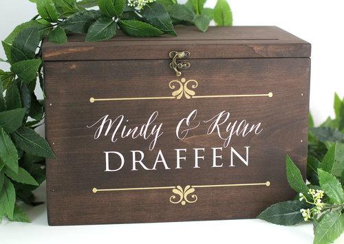 Rustic Wedding Cards Box