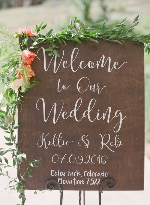 Wedding Welcome Sign | Welcome to Our Wedding | Rustic Wood Sign ...