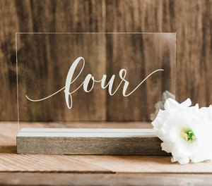 Rustic wooden table numbers, wedding decor — Sweet Carolina Collective