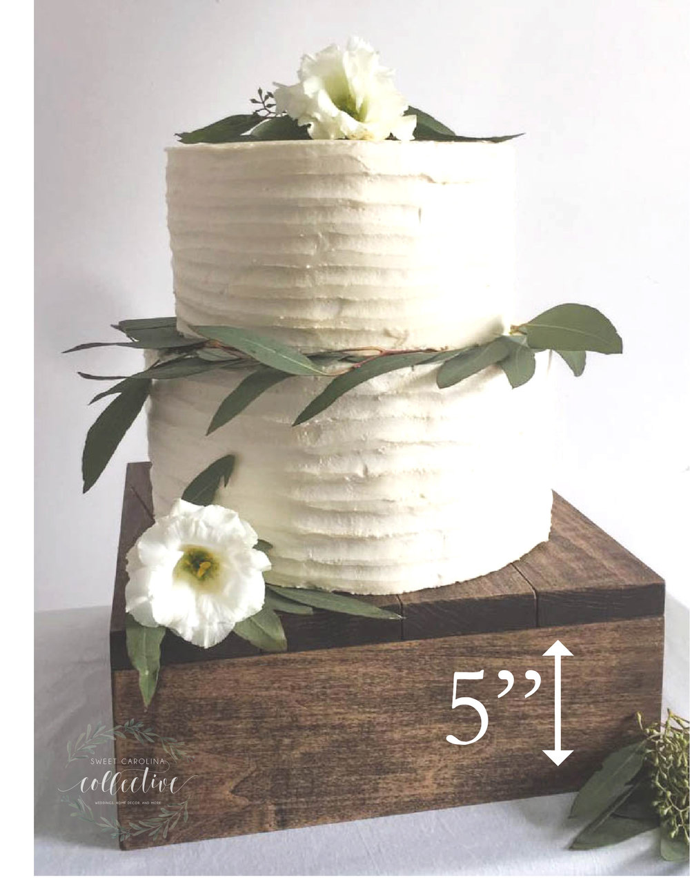 Rustic Wooden Cake Stand | Cupcake Stand | Wedding Cake Stand | SS 7