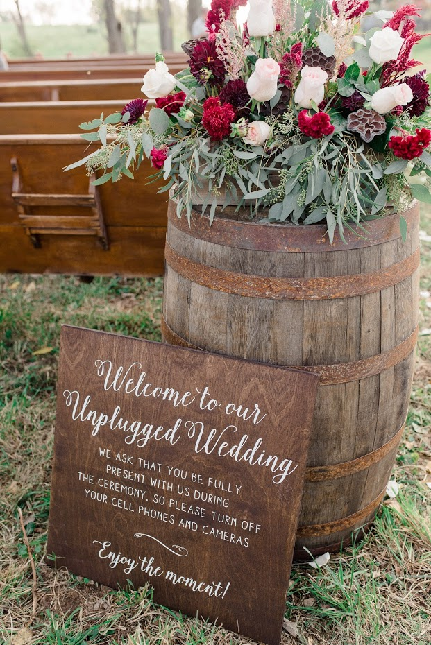Welcome To Our Unplugged Wedding  Rustic Wedding Decor  SS-9 — Sweet  Carolina Collective