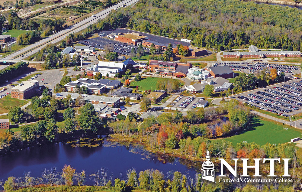 Aerial photo of New Hampshire Technical Institute Campus