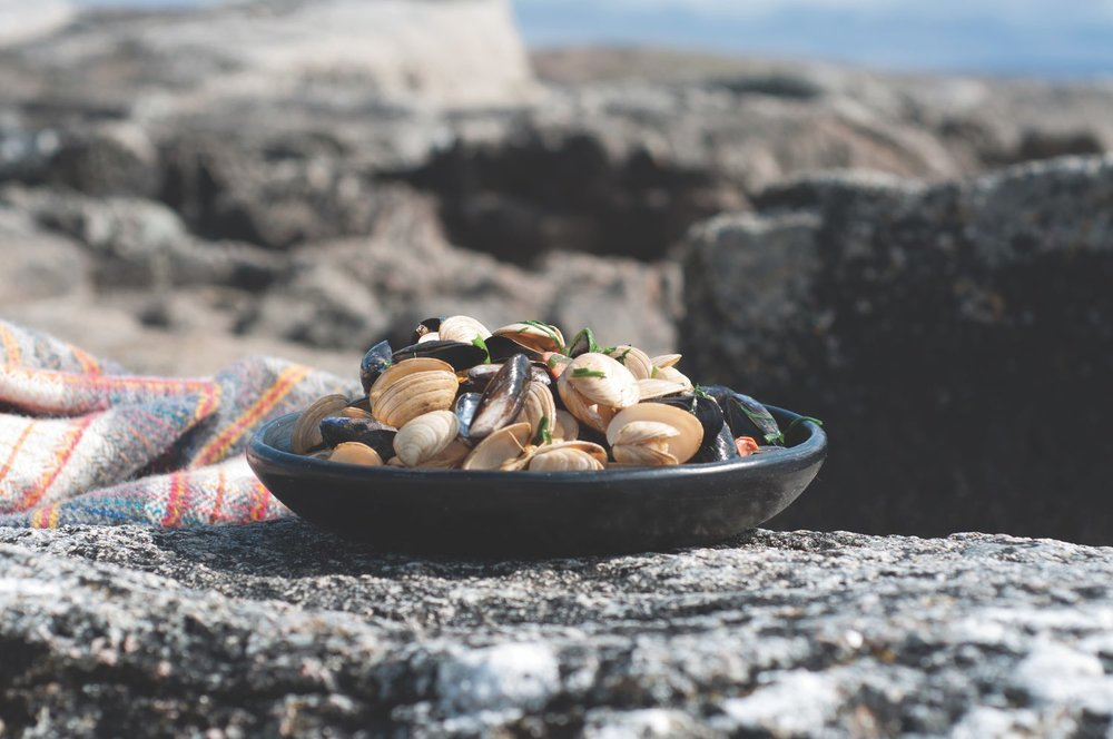 Mussels and Clams with Wild Garlic and Irish Chorizo