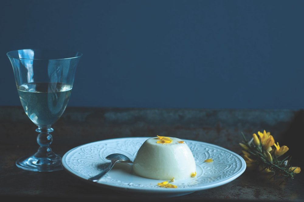 Gorse and Yoghurt Panna Cotta