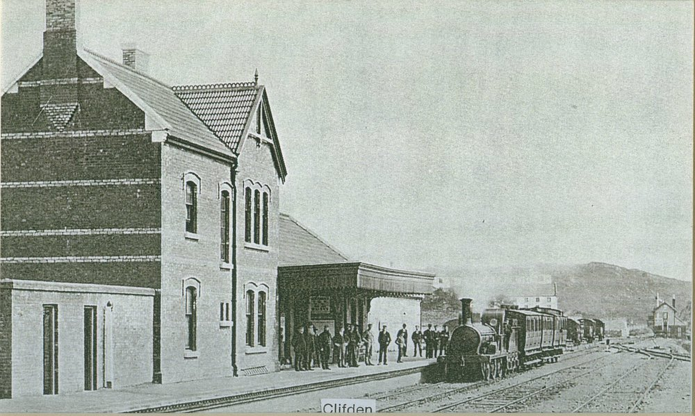 Old photograph of Clifden Station House
