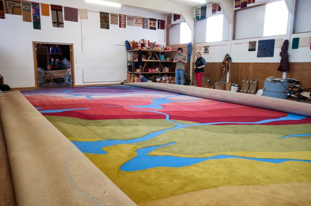 This 132-square-metre (1420 square feet) seamless piece produced for the Galway County Council chamber features over twenty colours and tones inspired by County Galway's landscape.