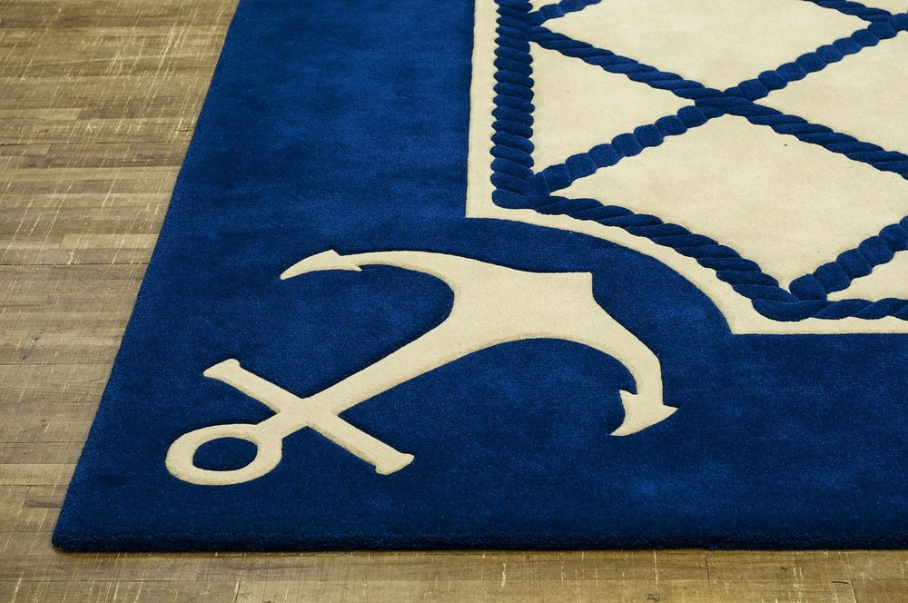 Anchor finish carpet, made by Connemara Carpets.
