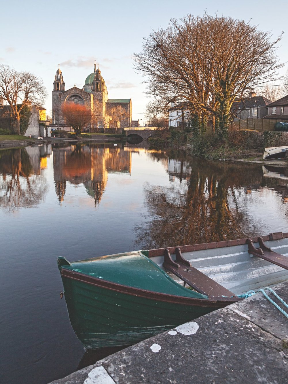 A view of Galway Cathedral reflecting beautifully in the Eglinton Canal. Photo by Nicholas Grundy