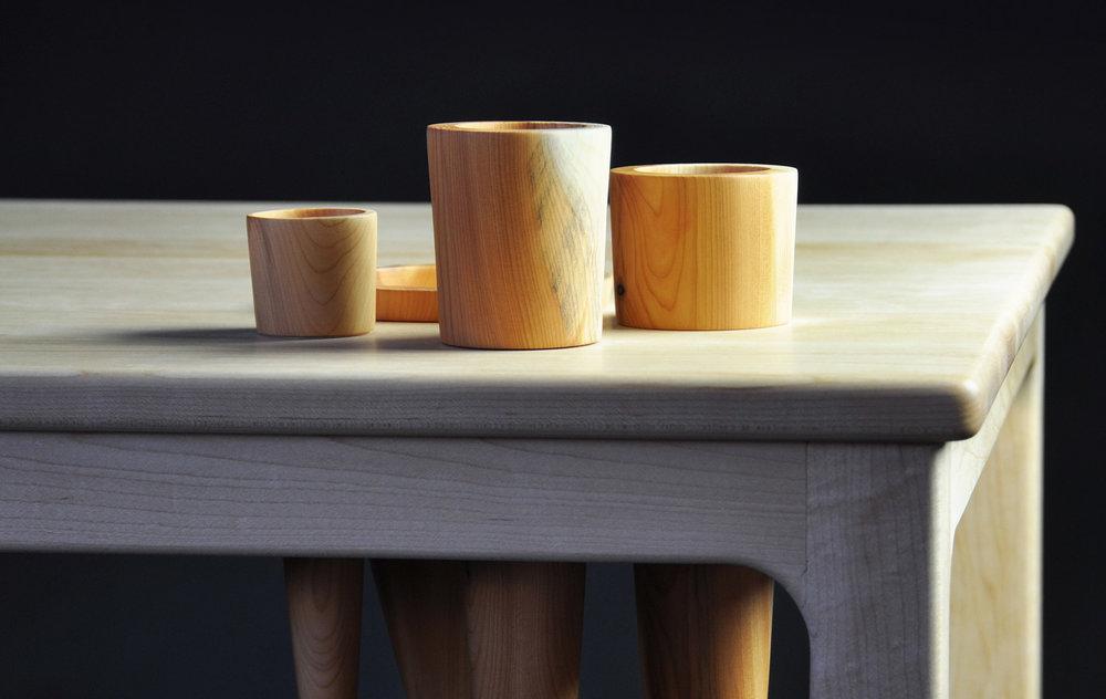 Landscape 1, Desk with Maple and Yew  by Gabriel Hielscher, Galway. Photo by Geraldine O'Brien