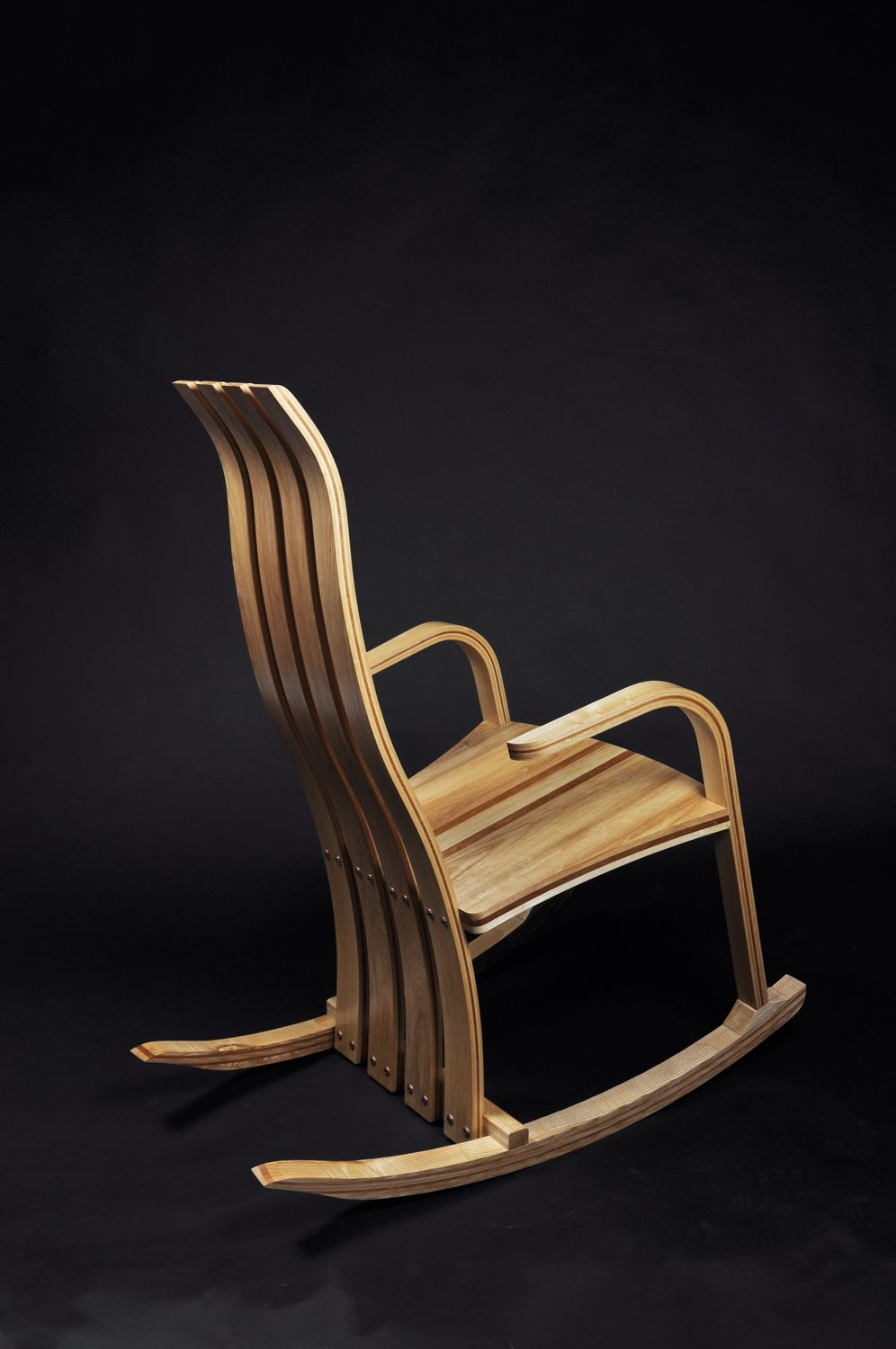 Drift, Rocking Chair with Ash and Cherry    by Robert Gorman, Kilkenny. Photo by Geraldine O'Brien