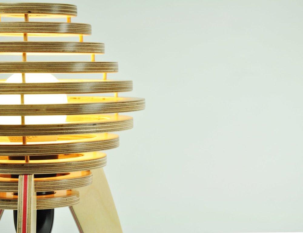 Lamp by Gabriel Hielscher, Galway.
