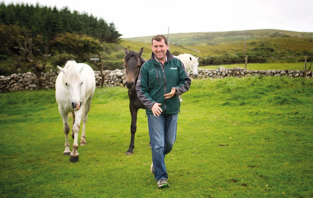 Malachy Gorham owner and operator of Glenbricken Farm in Connemara, Ireland