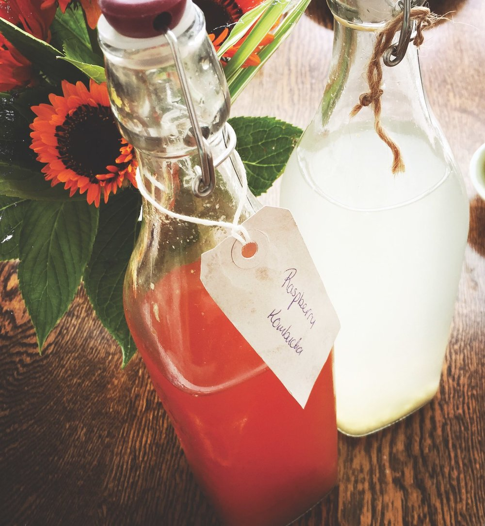 Raspberry Kombucha at Ballymaloe Cookery School