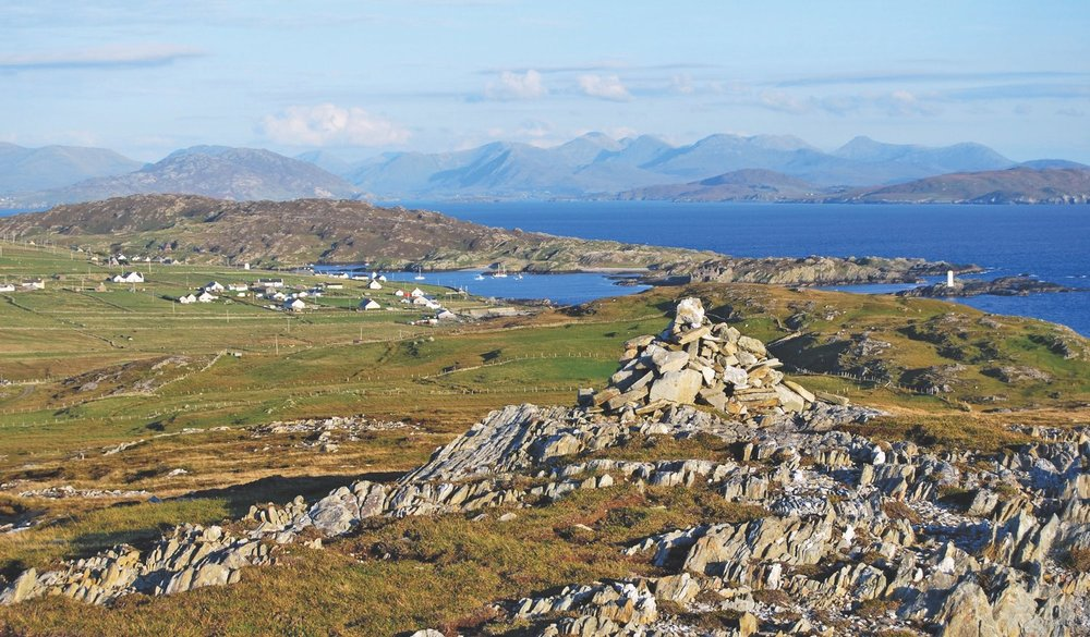 A glorious panoramic tapestry seen from atop Cnóc Mór. Photo by Marie Coyne.