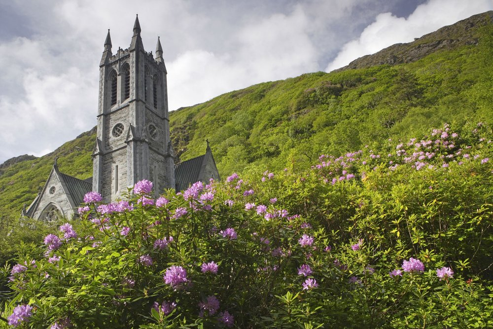 Gardens on the grounds of Kylemore Abbey