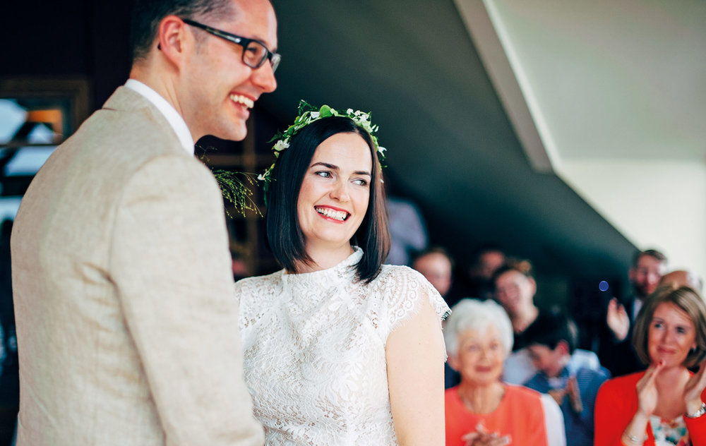 Neasa Cooke and John French Wedding, Inishbofin House Hotel. Photo by Darek Novak