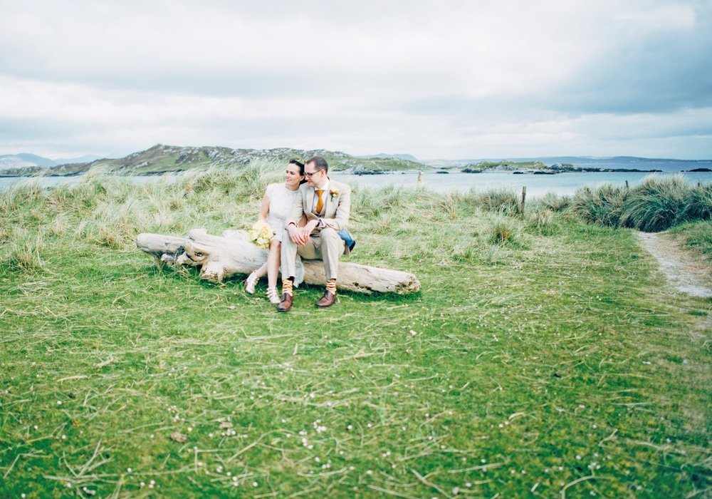 Nease Cooke and John French Wedding, Inishbofin House Hotel, Inishbofin. Photography by Darek Novak.