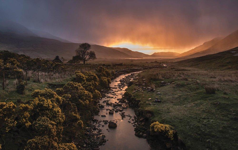 Irish Sunset Landscape