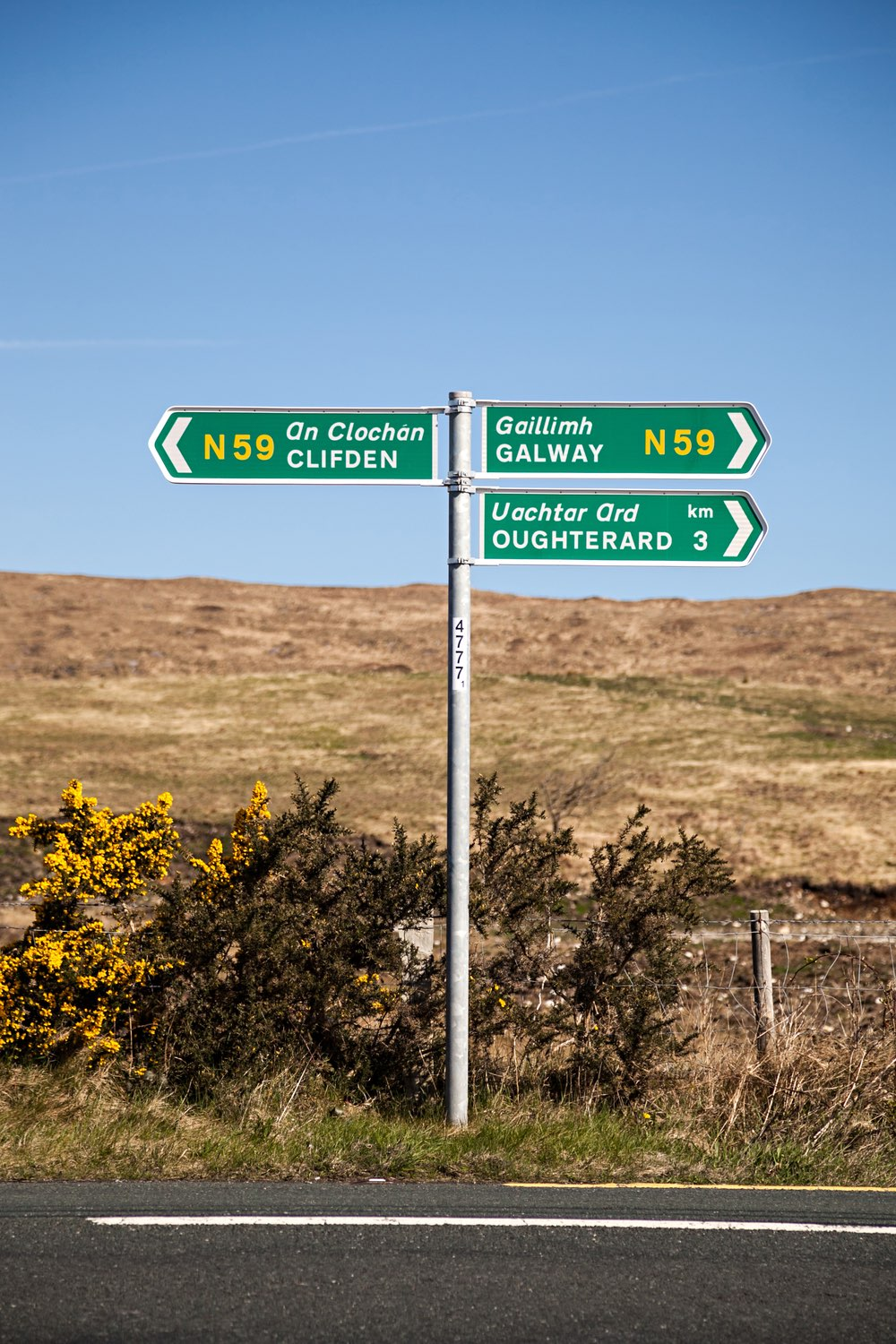 Clifden, Galway Road Sign