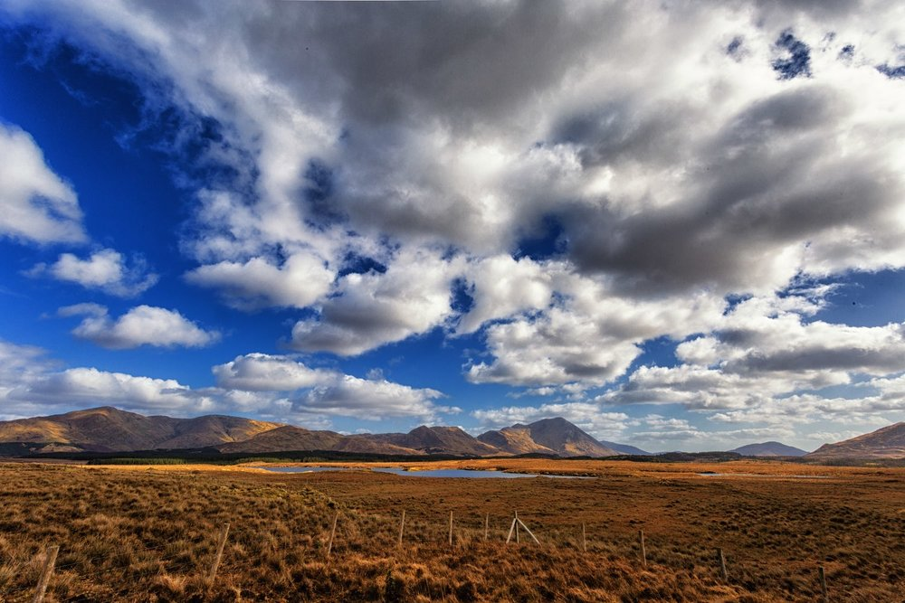 Irish Cloudscape Over Vast Land