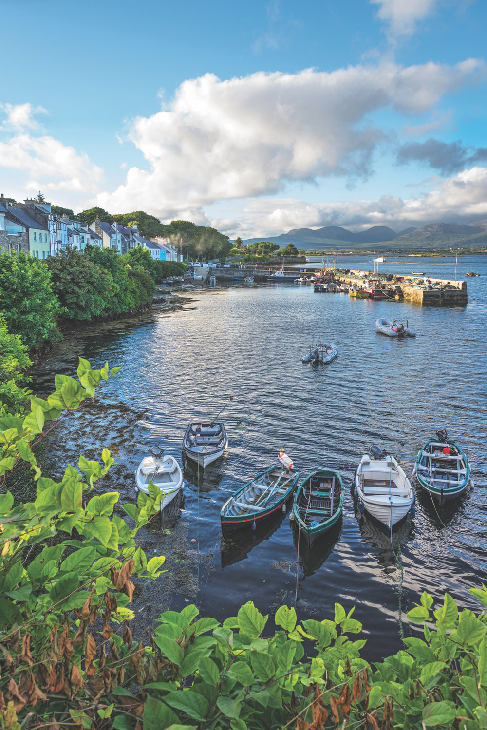 July evening at Roundstone Harbour; Photo by Robert Riddell
