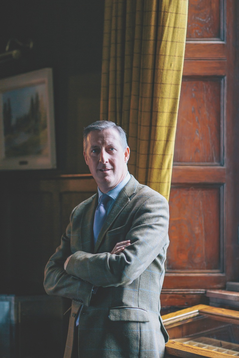 Patrick O'Flaherty has guided Ballynahinch Castle as general manager for twenty-one years. (Photo by Doreen Kilfeather)