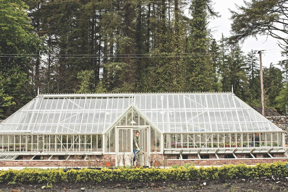 The new greenhouse where seedlings and plants incubate. (Photo by Joanne Murphy)