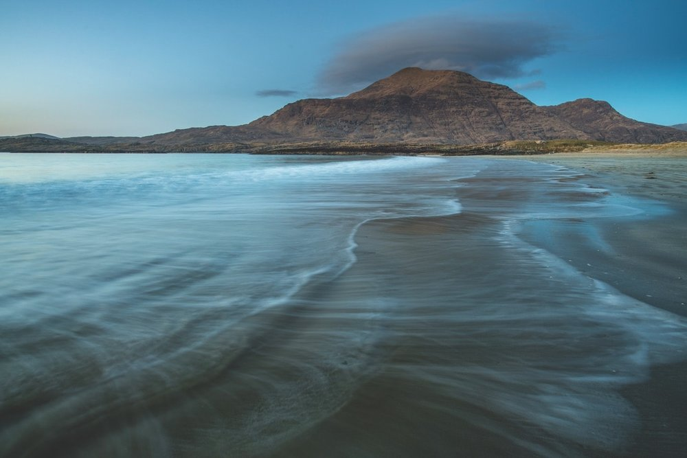 Glassilaun Beach at Dusk – Photo by Mark Furniss Photography