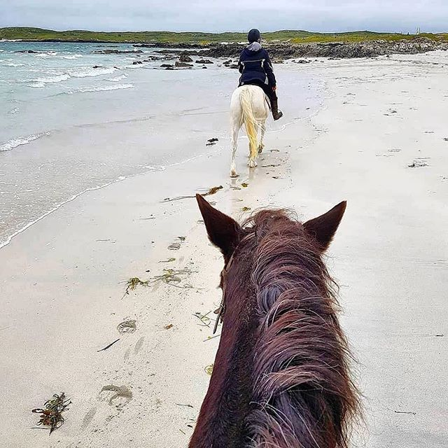 We love a little weekend adventure! Thank you @muchlove_xo for sharing your Connemara story! ❤️☘️ #Repost @muchlove_xo ・・・ Horseback riding along the beach in #Roundstone, #Connemara #Galway #Ireland 🐎🏇🏖
